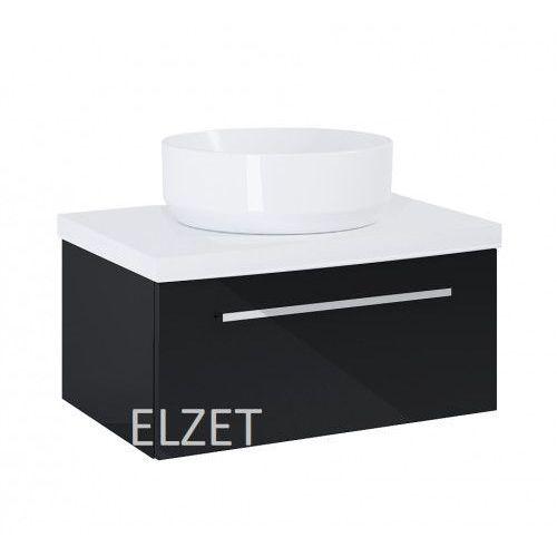 ELITA szafka Kwadro Plus 1S black pod umywalkę nablatową + blat 60 white 167644.166865, kolor czarny