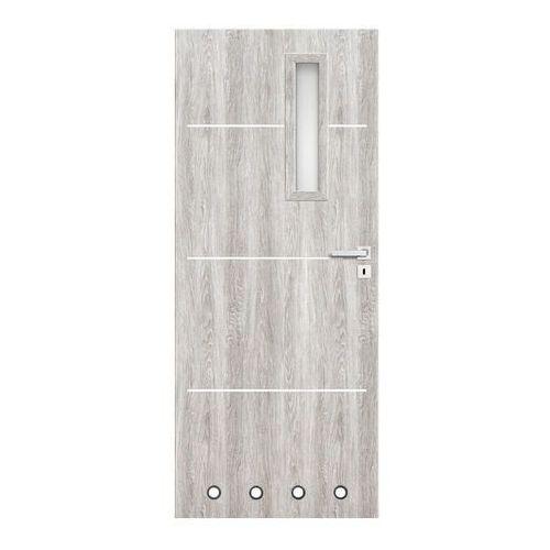 Drzwi z tulejami Nodo 60 lewe jesion szary, NOD045030