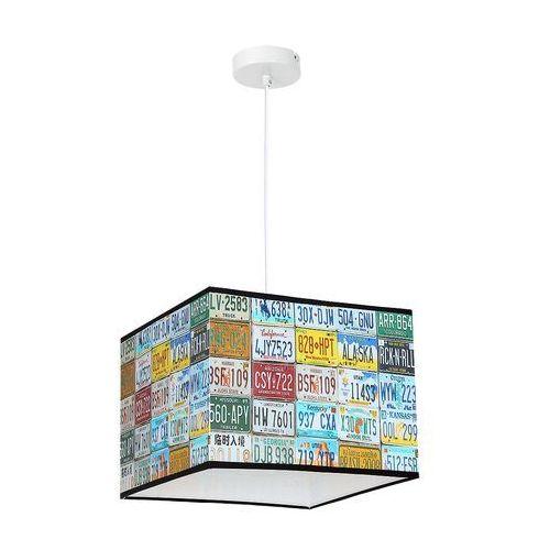 Lampa wisząca kid plate 8812 lampa sufitowa dziecięca 1x60w e27 biała / kolorowa marki Luminex