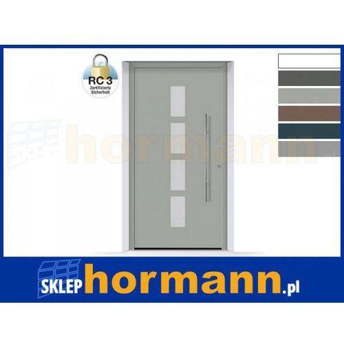 Drzwi aluminiowe ThermoSafe 2018, Wzór 501, kolor do wyboru, przeciwwłamaniowe RC 3
