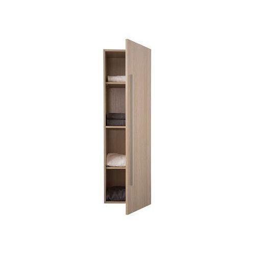 Meble łazienkowe - szafka wisząca łazienkowa jasne drewno - mataro marki Beliani