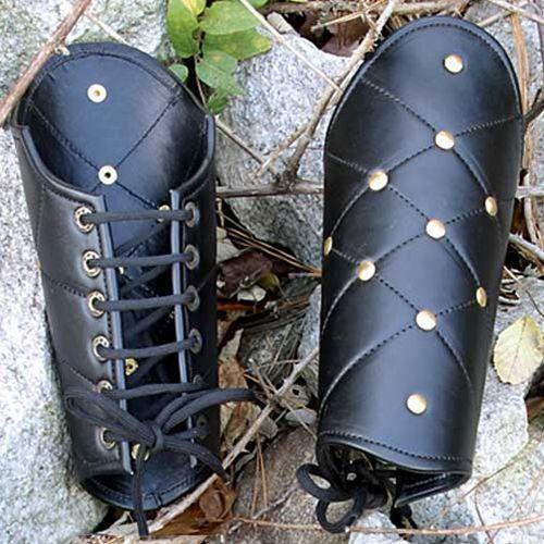 Skórzane karwasze wiązane- ochrona przedramion (ws200852) marki Płatnerze