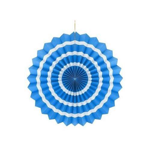Go Dekoracja wisząca rozetka niebiesko - biała - 40 cm - 1 szt.