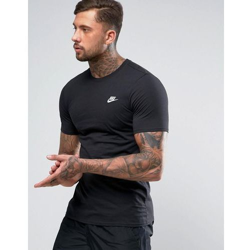 Nike Club T-Shirt With Embroidered Futura Logo In Black 827021-011 - Black, w 2 rozmiarach