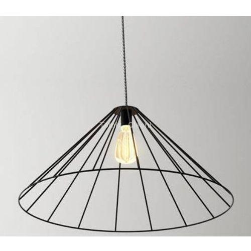 lampa wisząca BEJA B1 przewód żelazko, czarny mat ŻARÓWKA LED GRATIS!, CLEONI 1327B1J1116