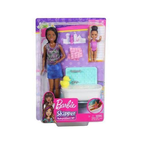 Mattel Lalka barbie skipper klub opiekunek zestaw z wanną fxh06