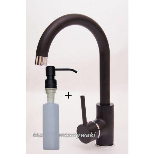 Zestaw promocyjny bateria kuchenna granitowa luga czarna + dozownik czarny marki Inp