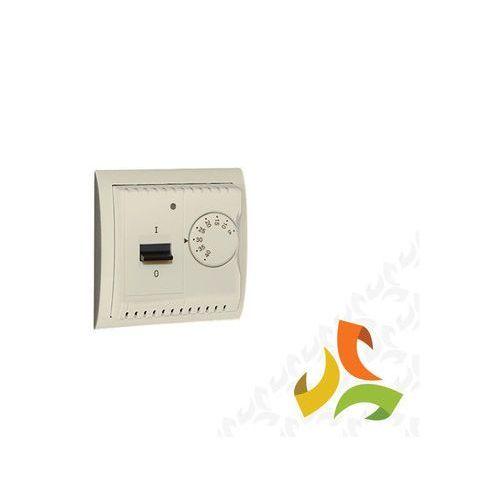Regulator temperatury z czujnikiem zewnętrznym, montaż na wkręty, beż Wymagany czujnik zewnętrzny (sonda) NTC-03 MRT10Z/12 SIMON CLASSIC, MRT10Z/12/KON