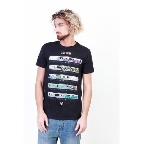 T-shirt koszulka męska ZOO YORK - ZZMTS108-14, kolor czarny