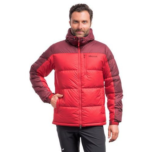 Marmot Kurtka puchowa guides down hoody - team red/port