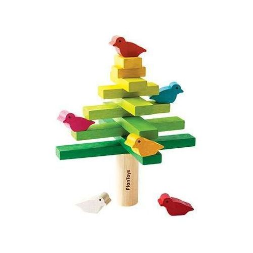 Drewniana układanka - balansujące drzewko / choinka,  marki Plan toys