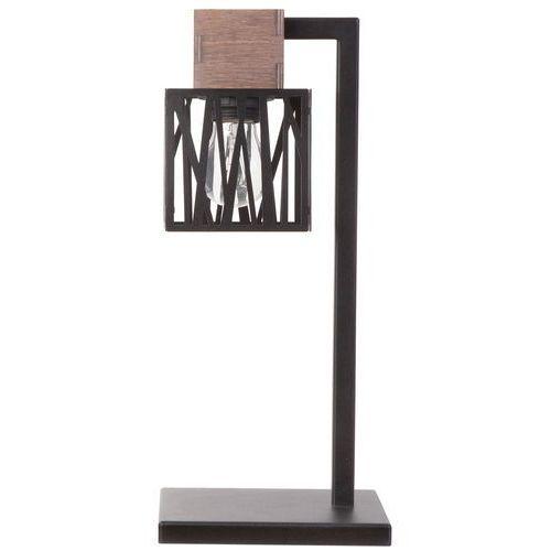 LAMPA stołowa DALI 50094 Sigma stojąca LAMPKA biurkowa hygge drewno czarna, 50094