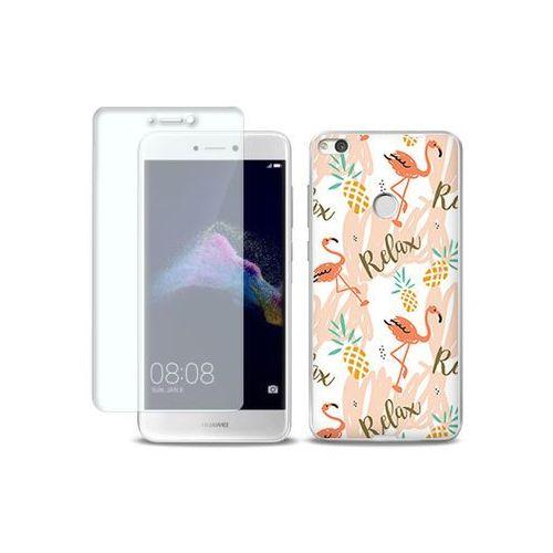 Huawei P8 Lite (2017) - etui na telefon Full Body Slim Fantastic - różowe flamingi, ETHW502FBSFFC042000