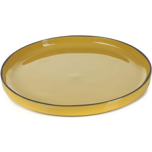 Revol Talerz deserowy, płaski z rantem 21 cm caractere kurkuma (rv-652803-4) (3198246528031)
