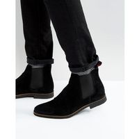 Walk london hornchurch suede chelsea boots - black