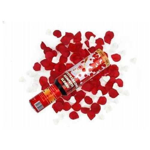 Tuba strzelająca - konfetti serca i płatki róż - 30 cm - 1 szt., #A698^c