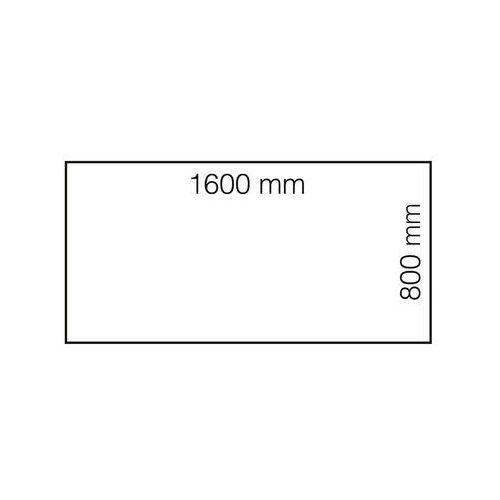 Biurko MODULUS, rama 4 nogi, 1600x800 mm, srebrny, biały, 1611423
