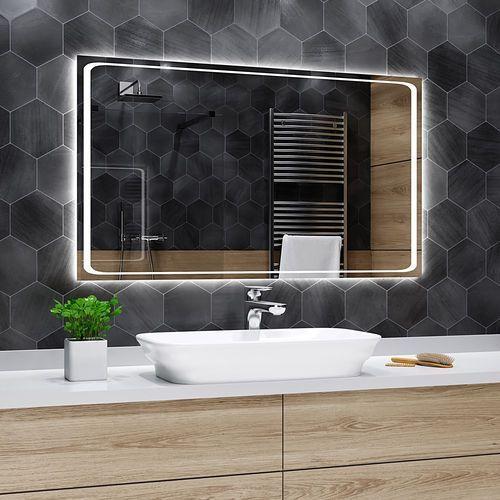 Lustro łazienkowe z podświetleniem led - 110x80cm - barcelona marki Alasta