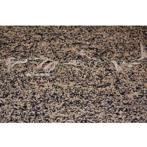 Twórczyni ludowa Chodnik bawełniany ręcznie tkany szaro-czarny 65x150 cm