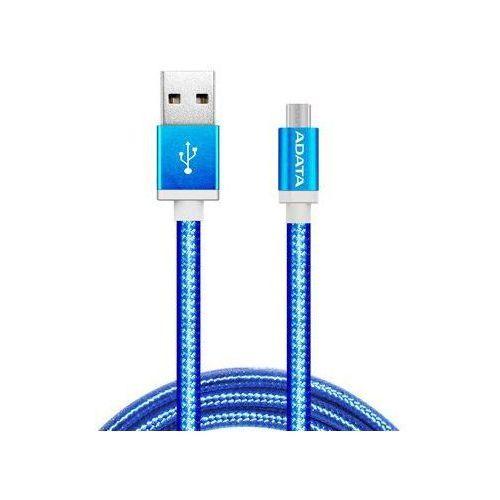 Adata kabel usb type-a, charge and sync data on android, niebieski amucal-100cmk-cbl - odbiór w 2000 punktach - salony, paczkomaty, stacje orlen (4712366965270)