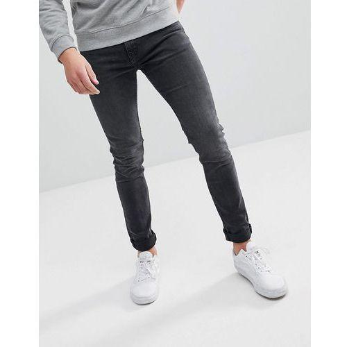 form trotter black cut super skinny jeans - black marki Weekday