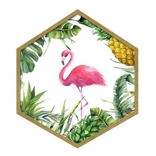 Obraz heksagonalny Flaming 35 x 40 cm