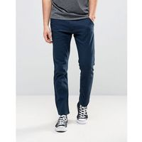 French connection trousers in navy linen - navy
