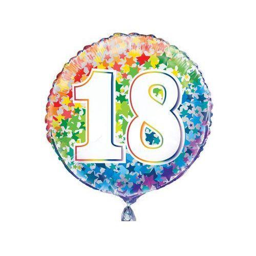 Unique Balon foliowy kolorowy - 18tka - 47 cm - 1 szt. (0011179557813)