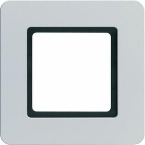 Q.7 Ramka 1-krotna do modułu podświetlenia LED, aluminium 10116174, kolor srebrny