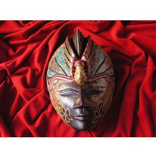 Wyspa bali Egzotyczny prezent rzeźba maska chwały z pawiem