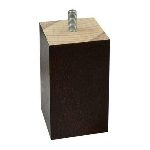 Noga Diall kwadrat 100 mm 55 x 55 mm wenge (5906711294811)