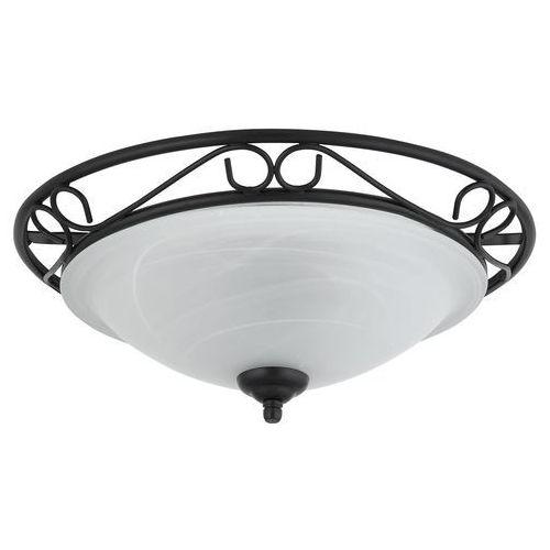 Plafon lampa oprawa sufitowa Rabalux Athen 2x60W E27 czarny/biały 3722, 3722