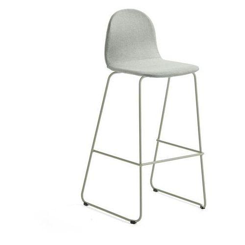 Aj produkty Krzesło barowe gander, płozy, siedzisko 790 mm, tkanina, zielonoszary