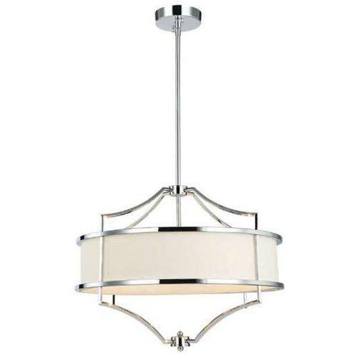Lampa abażurowa stesso cromo m wisząca oprawa okrągła w stylu klasycznym kremowa chrom marki Orlicki design