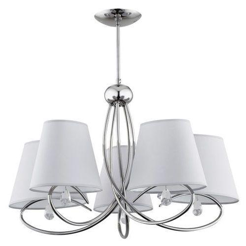 Alfa Lampa wisząca siena 20435.00 zwis 5x40w e14 chrom/szara >>> rabatujemy do 20% każde zamówienie!!! (5900458204355)