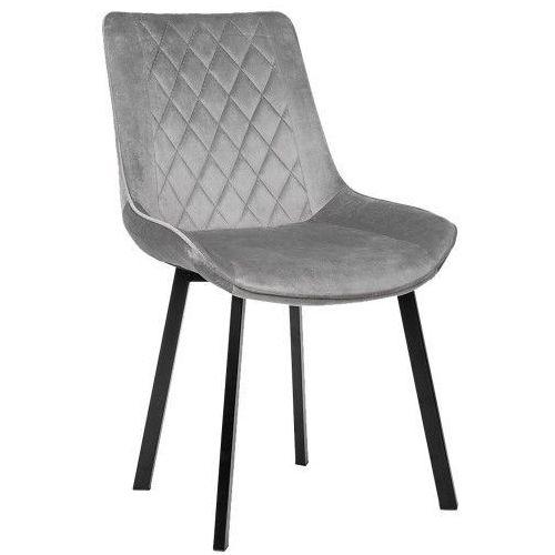 Krzesło tapicerowane pbt-096 jasny popiel welur marki Meblemwm