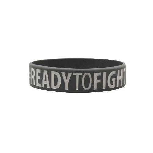"""Beltor opaska silikon """"ready to win-ready to fight"""" szara bo335"""