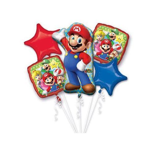 Bukiet balonów foliowych Super Mario - 1 kpl. (0026635320115)