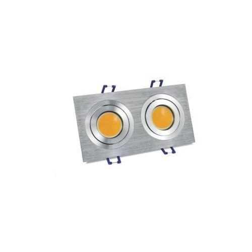 Oczko 2X4W LED COB Srebrny szczotkowany OLAL-Q2X4WWA POLUX/SANICO (5903137206893)