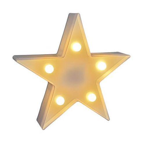 Gwiazda stojąca podświetlana 16 cm biała marki Cortina