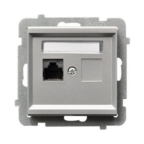 Gniazdo komputerowe pojedyncze kat. 5e, MMC Srebro mat - GPK-1R/K/m/38 Sonata, GPK-1R/K/M/38