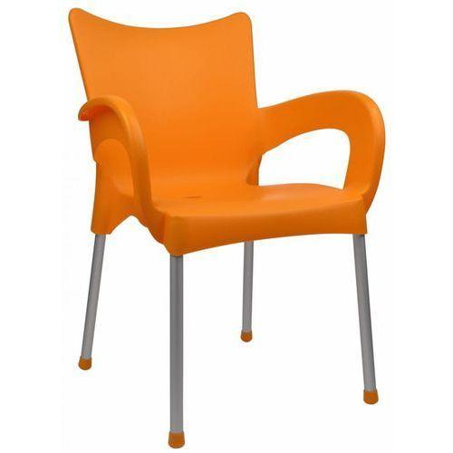 krzesło dolce mp463, pomarańczowe marki Mega plast