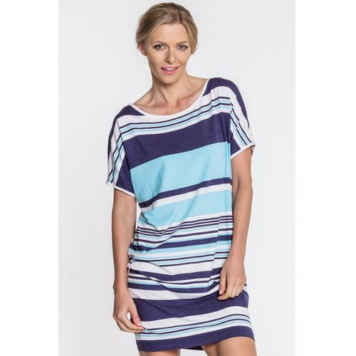 Sukienka w paski - Metafora, kolor niebieski