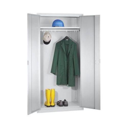 Szafa z drzwiami skrzydłowymi, 1 półka na kapelusze, 1 drążek na ubrania, jasnos marki Mba-system
