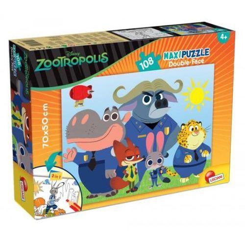 Liscianigiochi Puzzle dwustronne maxi 108 el. zwierzogród