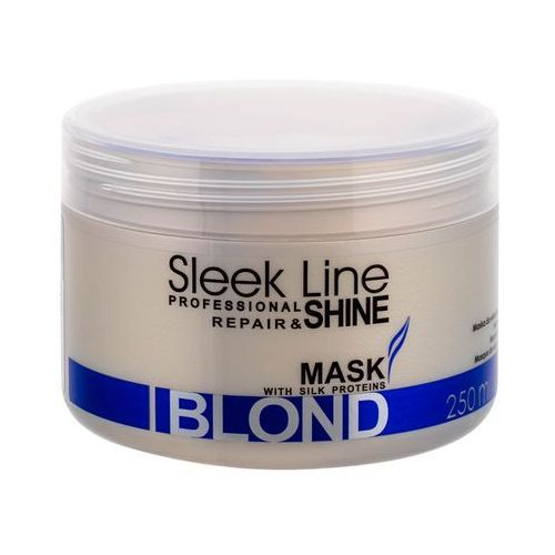 sleek line blond maseczka do blond i siwych włosów (special formula provides hair with platinum tint) 250 ml marki Stapiz