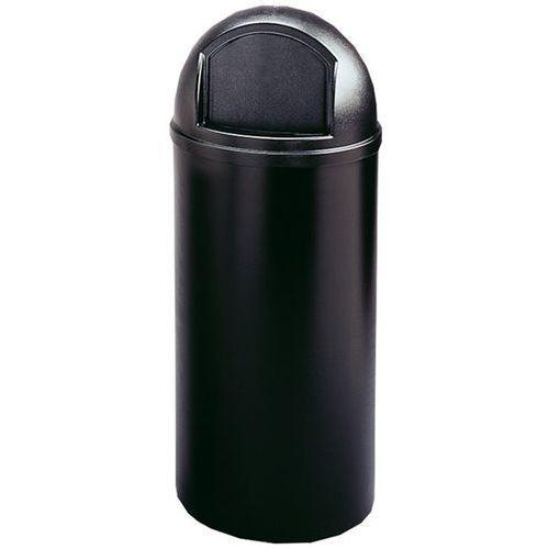 Rubbermaid Pojemnik na odpady (pe), ogniotrwały, poj. 80 l, Ø 455 mm, czarny. z bardzo trwa
