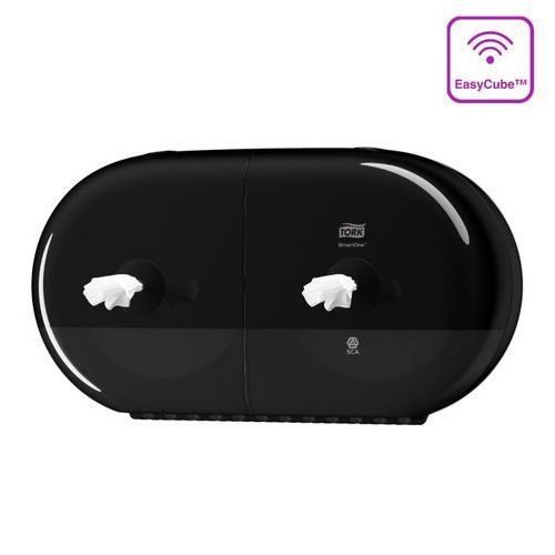 Dozownik do papieru toaletowego podwójny Tork SmartOne® czarny