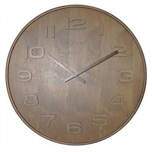 Nextime Zegar ścienny 3095 br wood wood big śr. 52,8cm