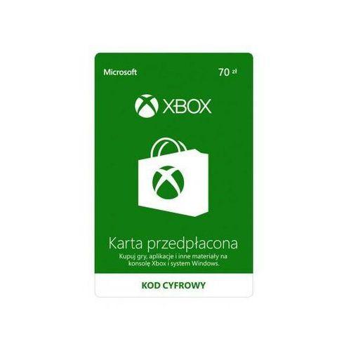 karta przedpłacona xbox 70 pln marki Microsoft